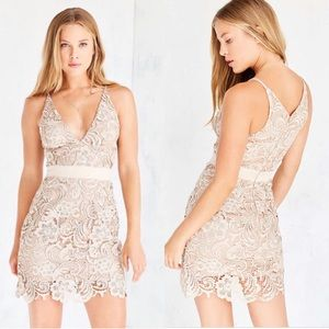 Dress the population Ava lace crochet dress